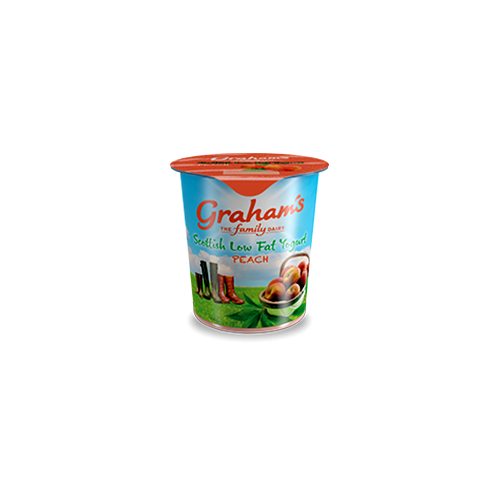 Peach low fat yogurt