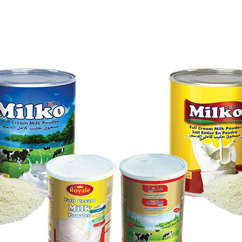 Full cream milk powder – tins