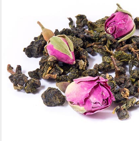 GREEN PYRAMID TEA WITH ROSE