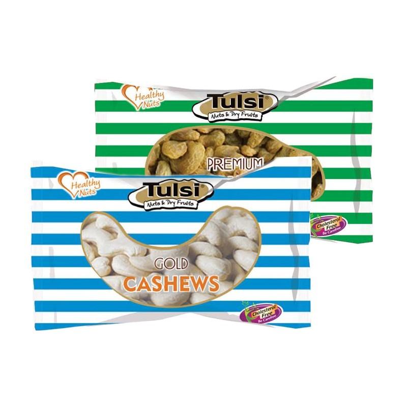 Combo tulsi cashews w-320 gold 500g - kishmish green 500g