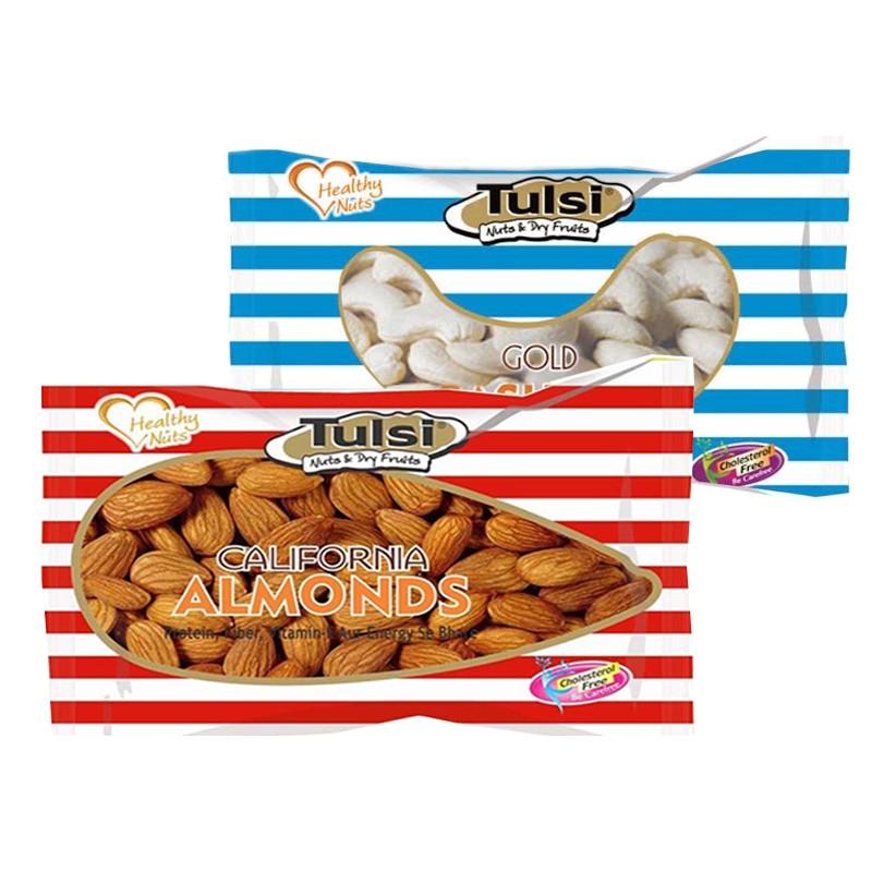 Combo tulsi cashews w-320 gold 500g - california almonds premium 500g