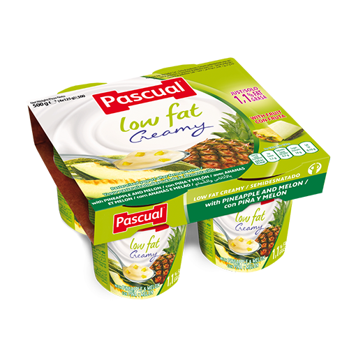 Pascual low fat pineapple and melon