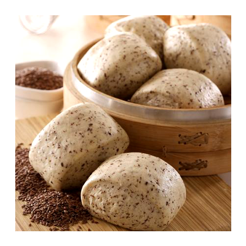 Home bake organic flaxseed steamed bread-vegan