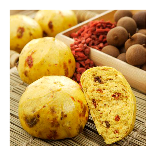 GojiBerry and Longan Steamed Bread_2