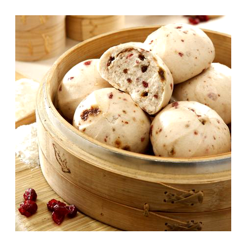 Cranberry steamed bread