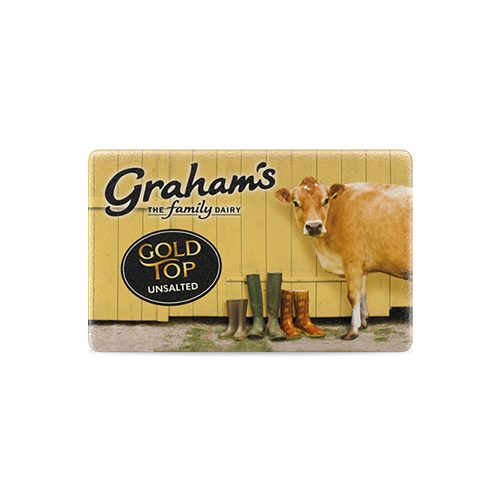 Gold slightly salted spreadable butter