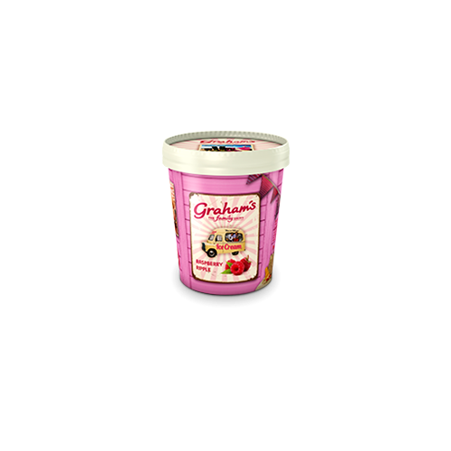 Raspberry ripple ice cream