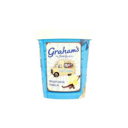 Traditional vanilla ice cream