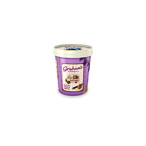 Scottish tablet & vanilla ice cream