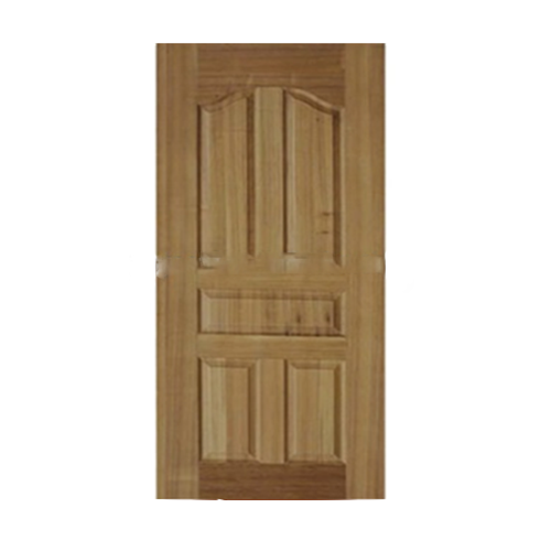 Solid wood leather door