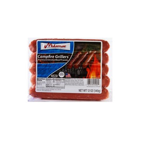 Midamar Halal Campfire Grillers Smoked Beef Franks_2