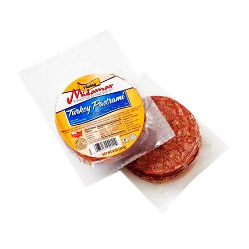 Halal turkey pastrami