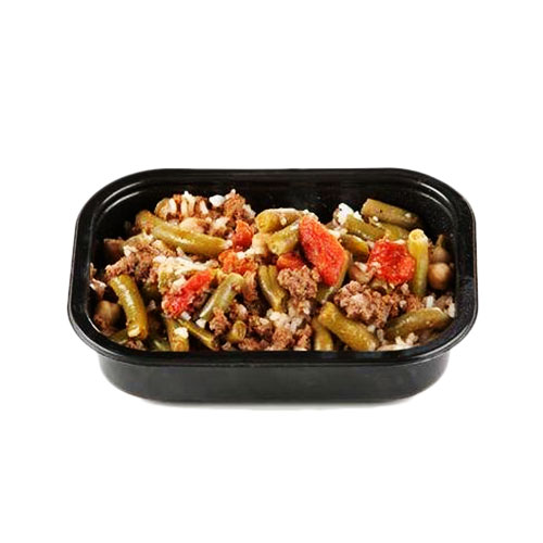 Halal Dietary Meal Lubia With Beef And Rice_2