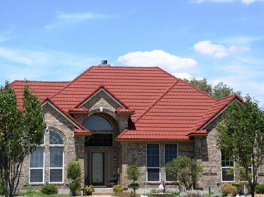 Colorful stone coated roofing example