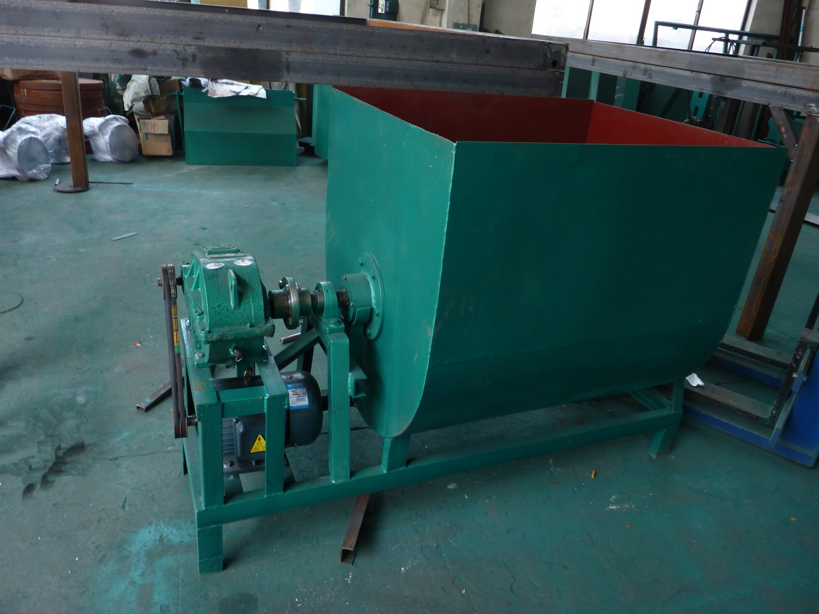 Slurry material mixing machine