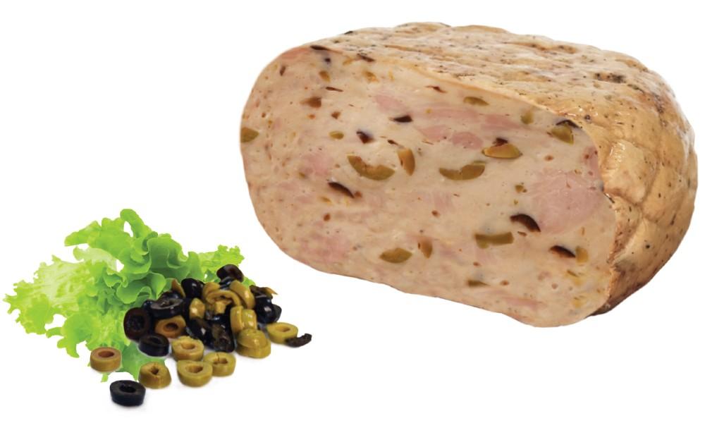 Smoked roast turkey breast olives