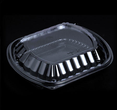 Food Container- 1 Compartment PP Black- FCB-1C_2