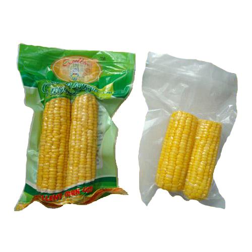 Whole corn in vacuum bag