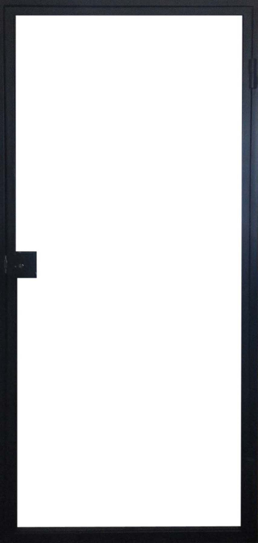 Steel door (push right) with outside frame