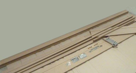 Frame set, mdf hydro unfinished - rf30' - w 200mm - architraves d01