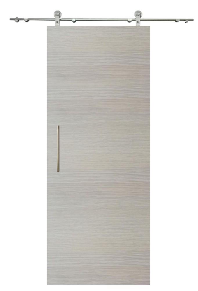 Sliding senza door, oak white horizontal