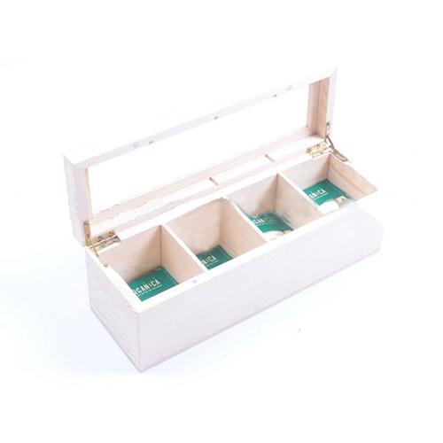 Wooden tea box with tea bags sc1003