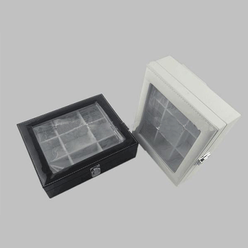 Leather box with tea bags 	sc1006