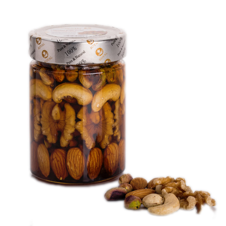 Royal Honey with fresh nuts – 400g_2