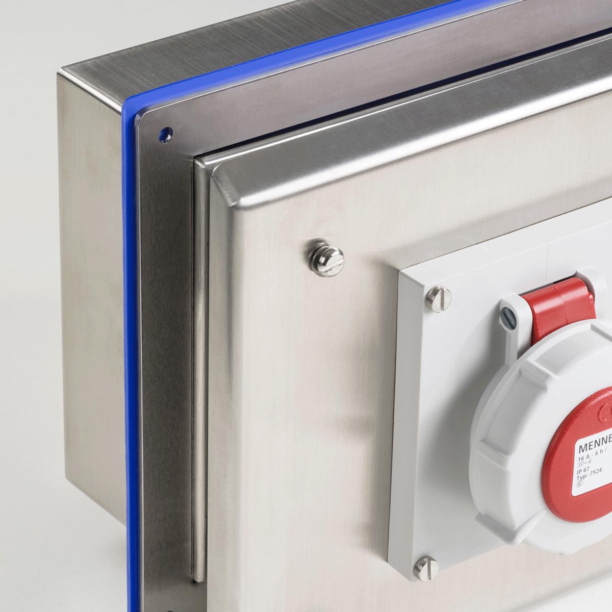 Sku: ph-soc-a s316 flush mounted pharma interlocked switch & socket enclosure