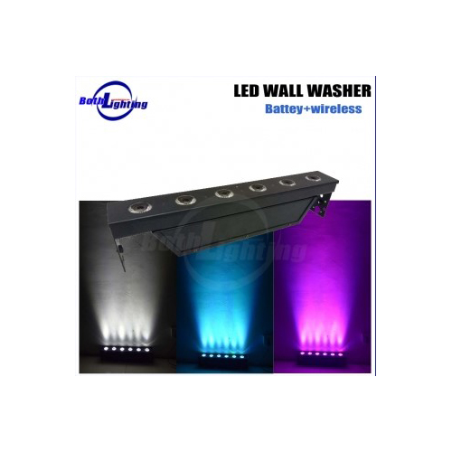 6x18w 6in1 wireless dmx led wall washer