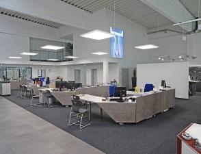 Quadro flat suspended commercial lighting