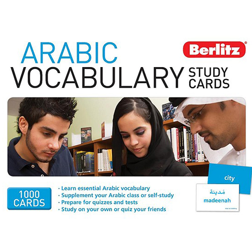 English books - arabic berlitz vocabulary study cards