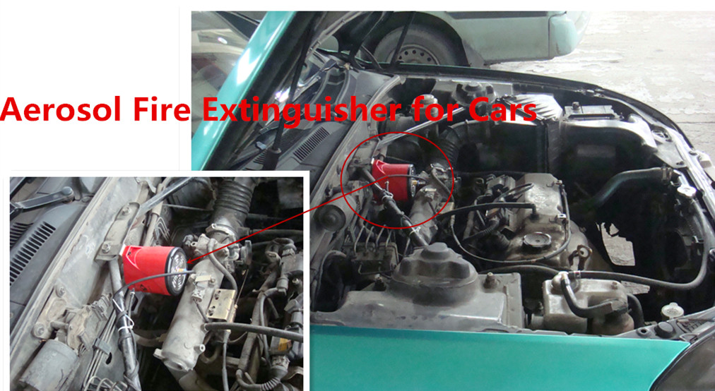 Automatic clean fire extinguisher for car