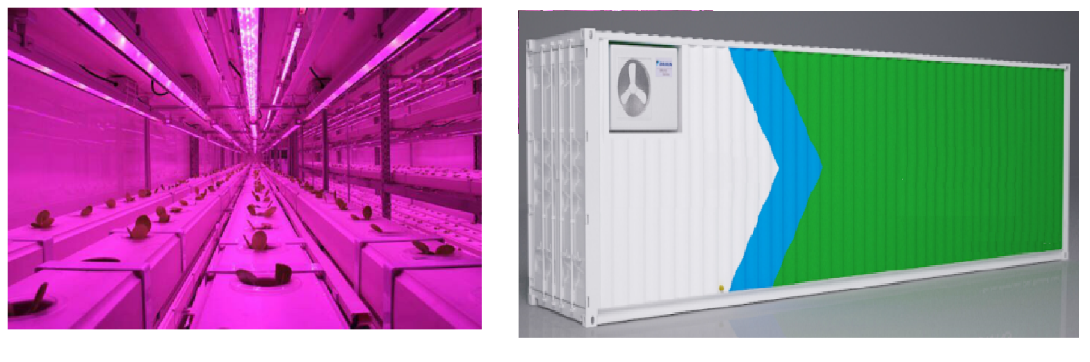 Grow module of 40 feet container equiped with hydroponic nft system to deliver preassembled farming facility