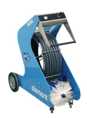 Tecai element-pneumatic brushing system