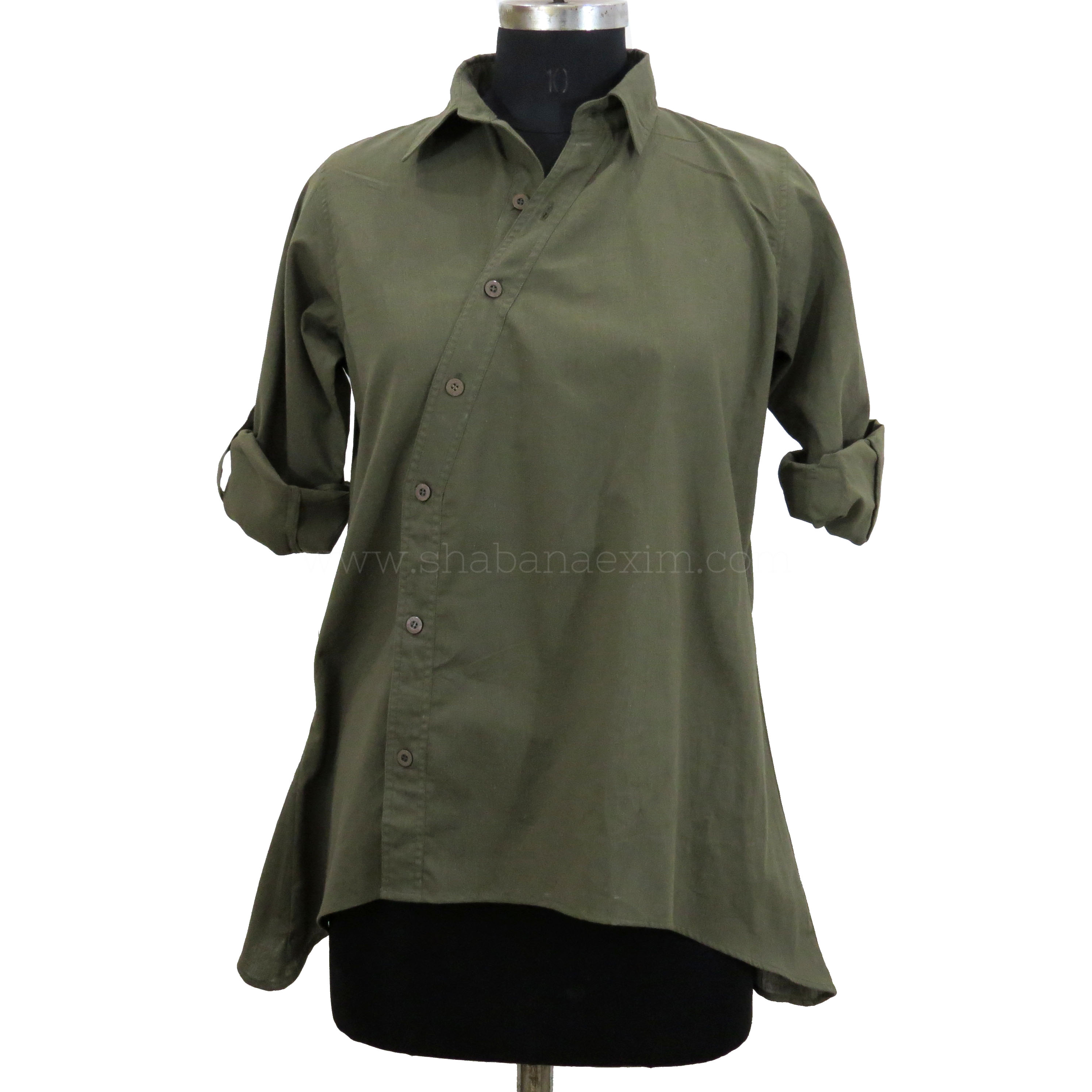 Khaki ladies shirts tops designer formal shirts