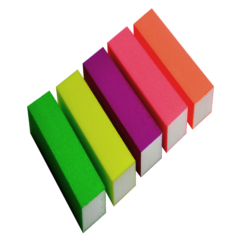 4-way white acrylic nail art sanding buffer block