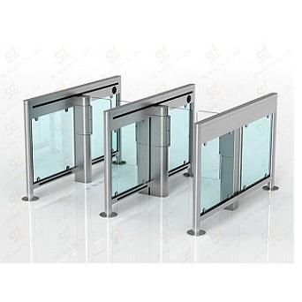 Swing barrier glass turnstile