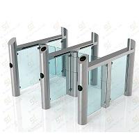 Glass turnstile speed gate