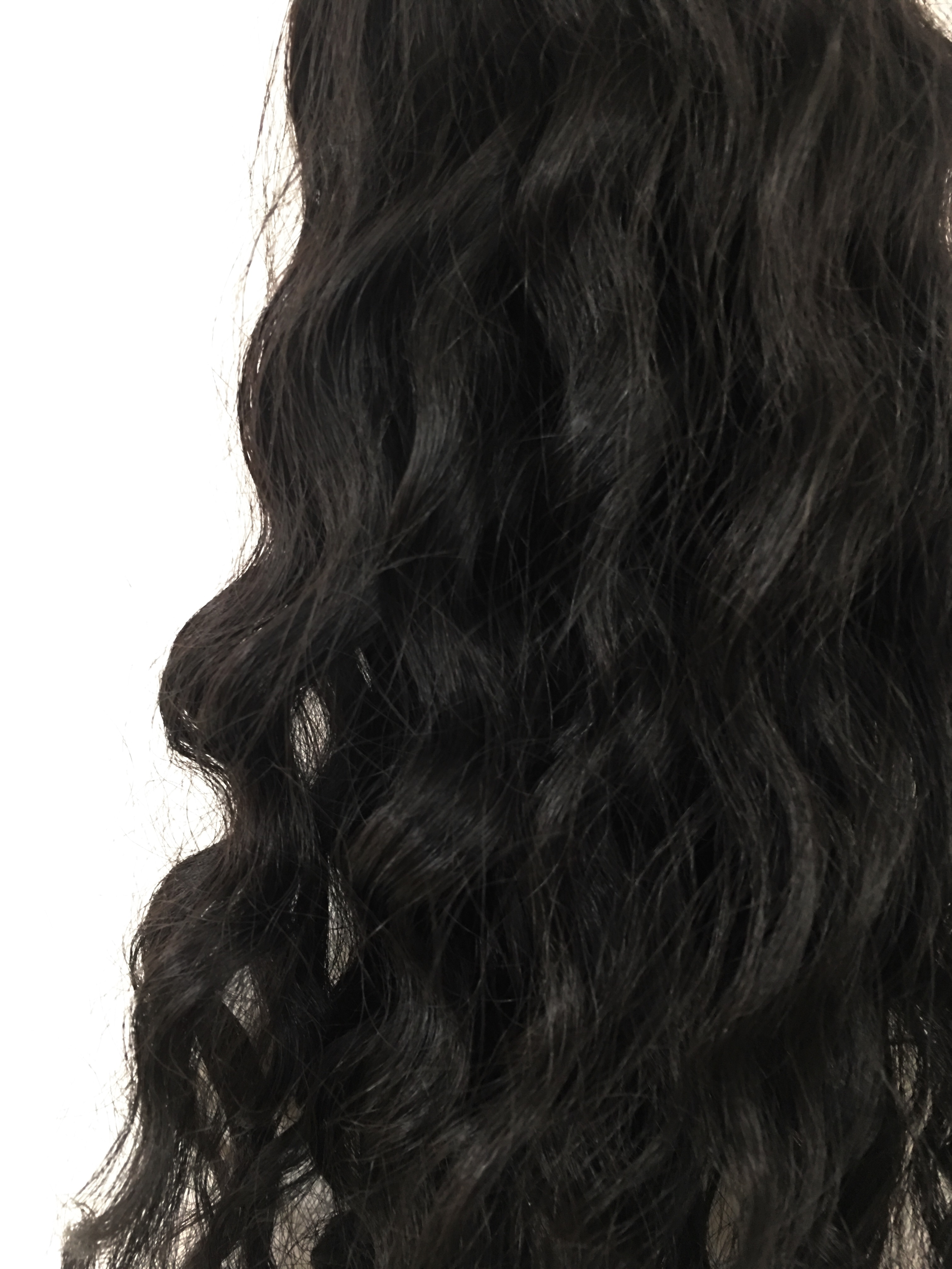 Virgin Uncoloured Brazilian Virgin Remy Human Hair Weft 16inches Curly Wavy or Straight_6