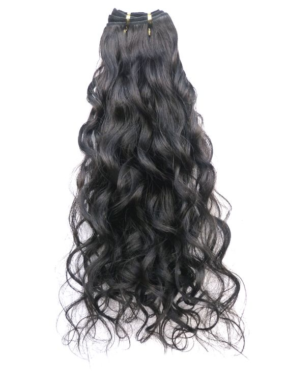 Virgin Uncoloured Brazilian Virgin Remy Human Hair Weft 16inches Curly Wavy or Straight_3