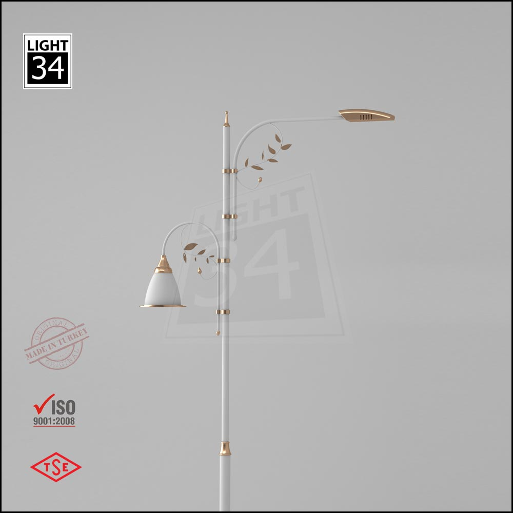 6 Mt Decorative Outdoor Lamp Post Street Lighting Pole_10