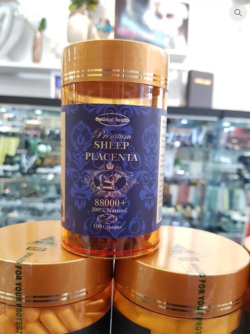 Optimal Health Sheep Placenta Capsules 100s PREMIUM Quality Beauty Skin Health Women Men_2