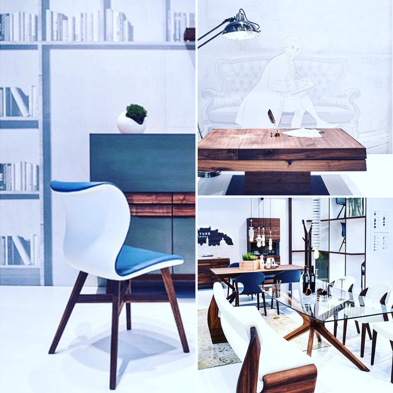 Walnut contemporary dining table