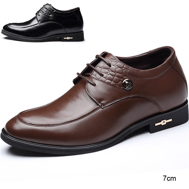 Skyeshopping Height Increasing Shoes Men Elevator Leather Shoes Formal Dress Shoes_2