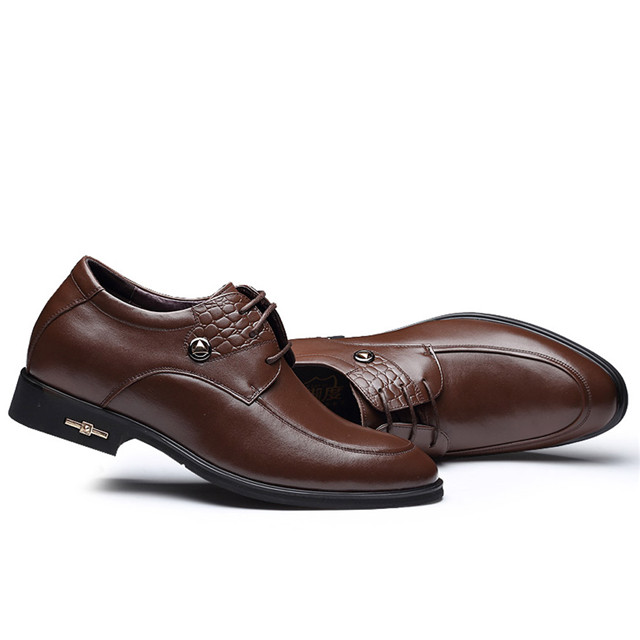 Skyeshopping Height Increasing Shoes Men Elevator Leather Shoes Formal Dress Shoes_3