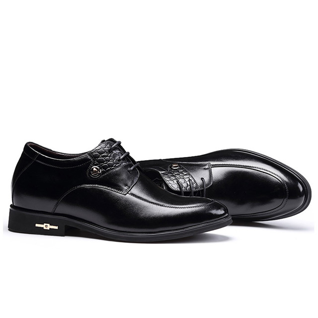 Skyeshopping Height Increasing Shoes Men Elevator Leather Shoes Formal Dress Shoes_9