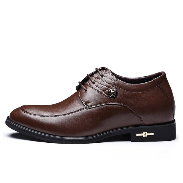 Skyeshopping Height Increasing Shoes Men Elevator Leather Shoes Formal Dress Shoes_6
