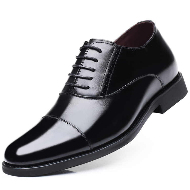 Taller Men 7 cm Height Increasing Elevator Leather Shoes_2