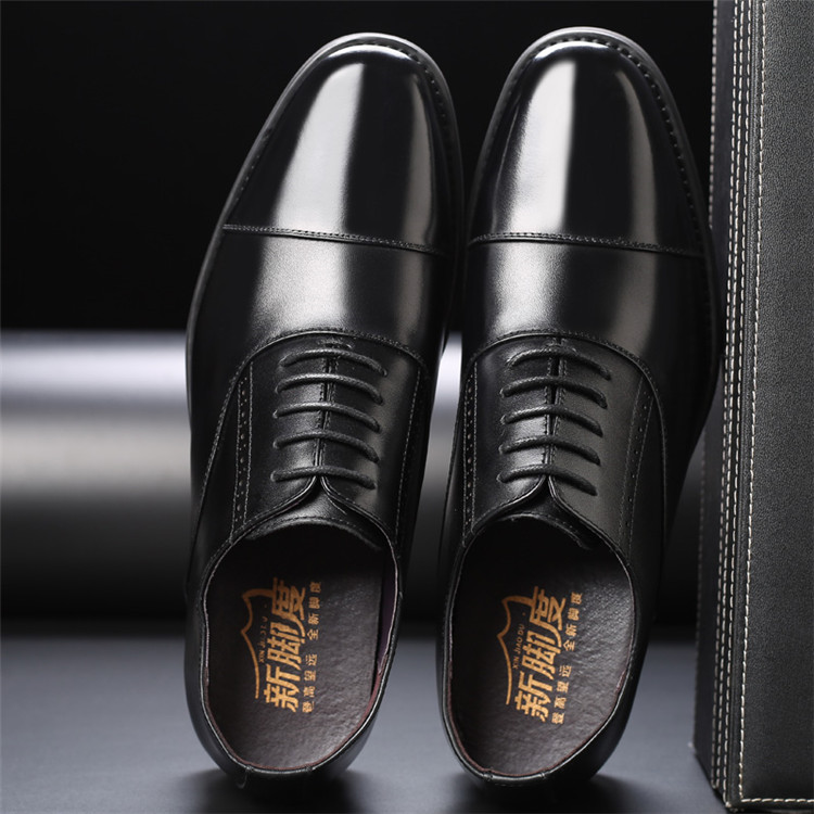 Taller Men 7 cm Height Increasing Elevator Leather Shoes_13